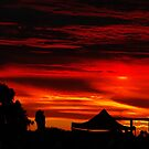 Sunset on South Adelaide Footy Oval on Aust. Day by janfoster