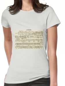 SHEET MUSIC-2 Womens Fitted T-Shirt