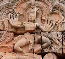 Dancing Shiva at Prasat Hin Khao, Phanom Rung, Thailand  by Indrani Ghose