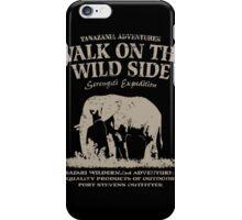 Elephant - Walk on the wild side iPhone Case/Skin