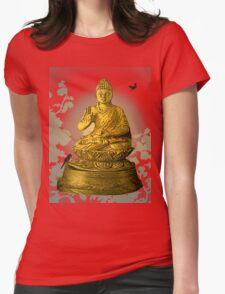Golden Buddha Womens Fitted T-Shirt
