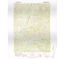 USGS Topo Map Oregon Sterling Creek 281651 1983 24000 Poster