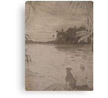 Sunset in Fiji Canvas Print