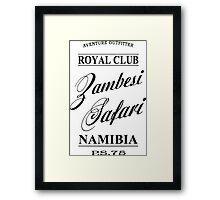 Zambesi Safari Framed Print