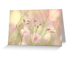 Pastel garden Greeting Card