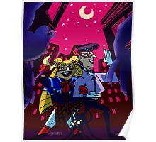 fighting evil by moonlight! Poster