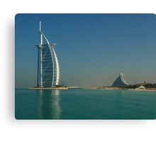 two mythic hotels in Dubai Canvas Print