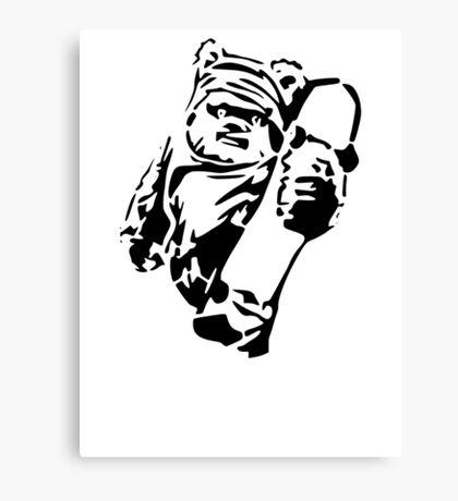 Jawa Skateboarder Stencil Canvas Print