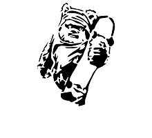 Jawa Skateboarder Stencil Photographic Print