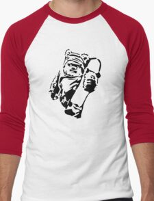 Jawa Skateboarder Stencil Men's Baseball ¾ T-Shirt