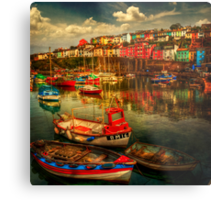 Brixham Boats Metal Print