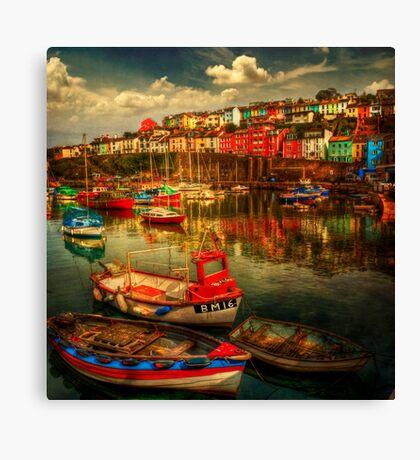 Brixham Boats Canvas Print