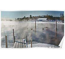 Cold Winter Morning on Brandy Pond Poster