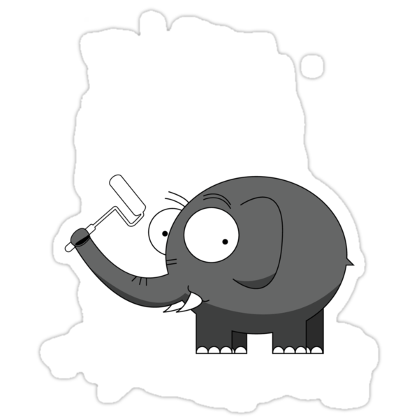 Elephant by Richard Laschon