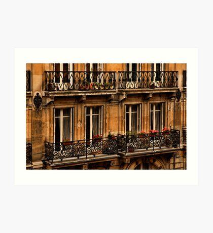 Left Bank Balconies Art Print