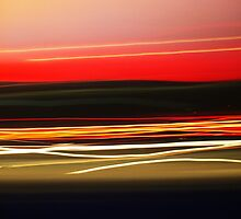 Motorway Light Trails 1 by Nick Leech