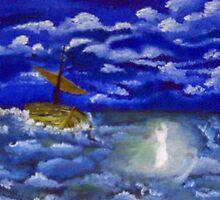 Jesus on Water 2 by cheetaah
