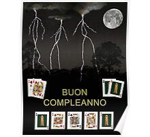 Boun Compleanno, HAPPY BIRTHDAY, Poker  Poster