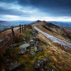 Mam Tor Ridge Derbyshire by Roy Childs