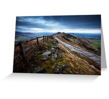 Mam Tor Ridge Derbyshire Greeting Card