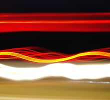 Motorway Light Trails 2 by Nick Leech