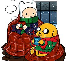 Finn and Jake Really Big Sweaters  by BlacksSideshow