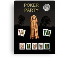Poker Scream Party Poker Canvas Print