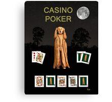 Poker Scream Casino Poker Canvas Print