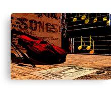 Vintage Music Montage Canvas Print