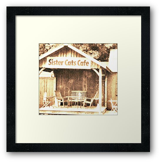 """""""Sister Cats Cafe""""... prints and products by © Bob Hall"""
