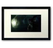 Aliens spaceship Framed Print