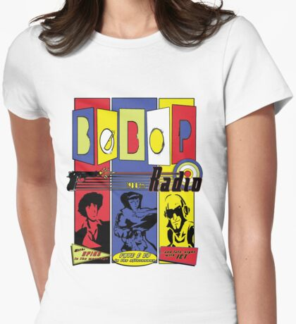 Radio Bebop Womens Fitted T-Shirt
