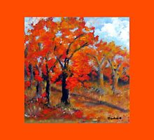 Trees in autumn Unisex T-Shirt