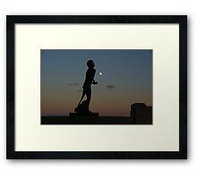 Moonlit Run Framed Print