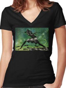 Nosferatu A Symphony of Horrors original poster Restored Women's Fitted V-Neck T-Shirt