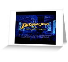 Indiana Jones and The Fate of Atlantis #02 Greeting Card