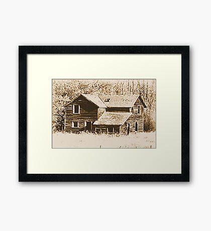 Memories Of The Old Homestead Framed Print