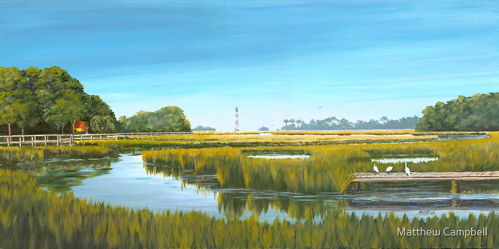 Oak Island Creek, Folly Beach SC by Matthew Campbell