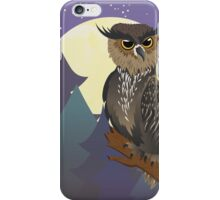 Owl in Night Forest iPhone Case/Skin
