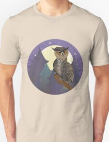 Owl in Night Forest T-Shirt