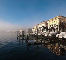 Lake shore at Lugano, Ticino, Switzerland by Mark Howells-Mead