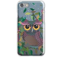 Owls on a Branch 2 iPhone Case/Skin