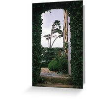 Entrance arch at Canons Ashby house Greeting Card