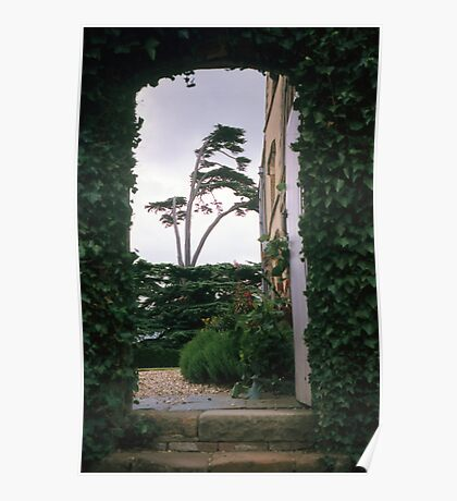 Entrance arch at Canons Ashby house Poster