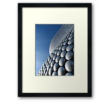 Futuristic Modern Curved Exterior of Selfridge's Building in Birmingham Framed Print