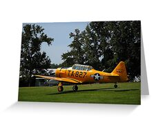 Post War Trainer - T6 Texan Greeting Card