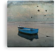 The blue boat - Fine Art Photography Canvas Print