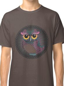 Pink and Blue Color Owl 2 Classic T-Shirt