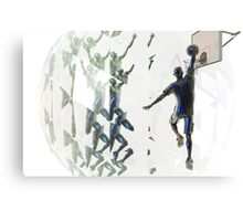 Light bending refraction basketball Canvas Print