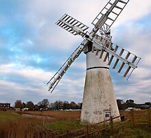 Thurne Mill, Norfolk, UK  by Gary Rayner